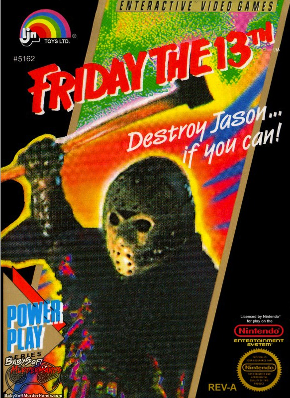 Friday the 13th NES video game box cover art