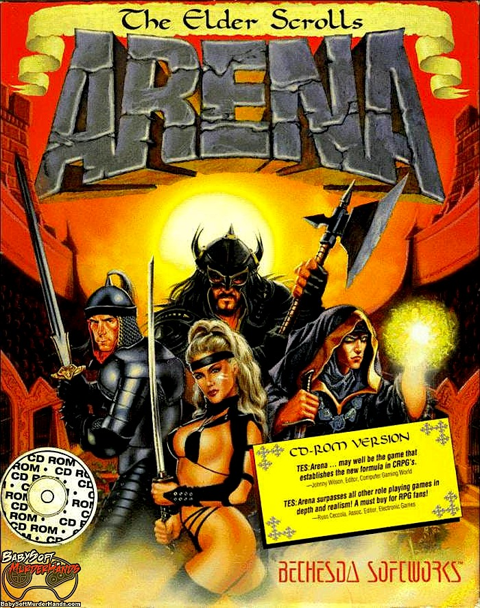 The Elder Scrolls Arena Box Cover Art