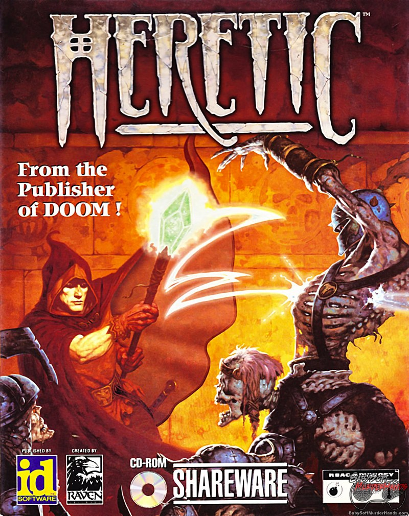 Heretic Box Cover Art DOS