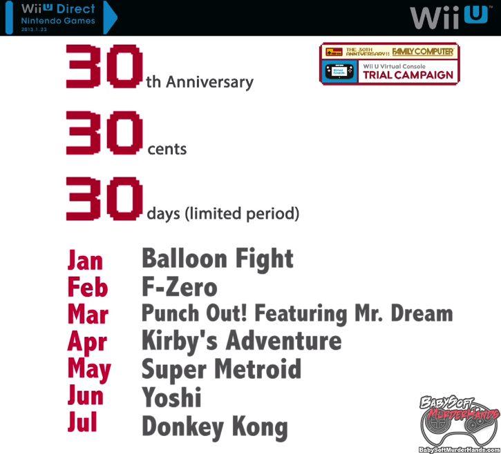 Nintendo Wii U Virtual Console NES Famicon 30th Anniversary