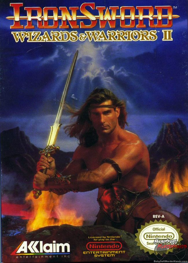 Cover Art Ironsword Wizards Warriors II NES