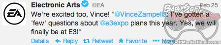 Respawn Entertainment E3 2013 tweet EA