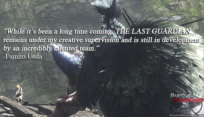 The Last Guardian Still In Development According to it's Creator