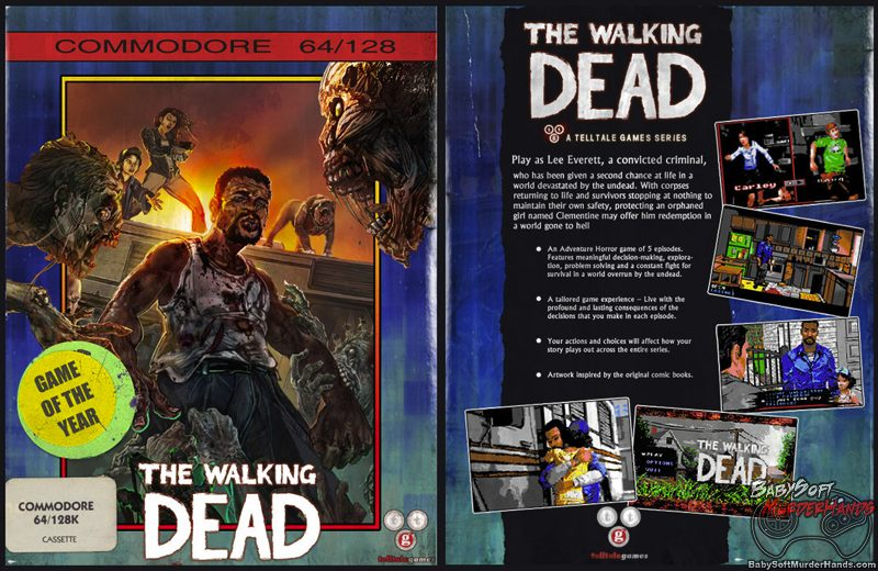 Walking Dead Commodore 64 C64 Box Art