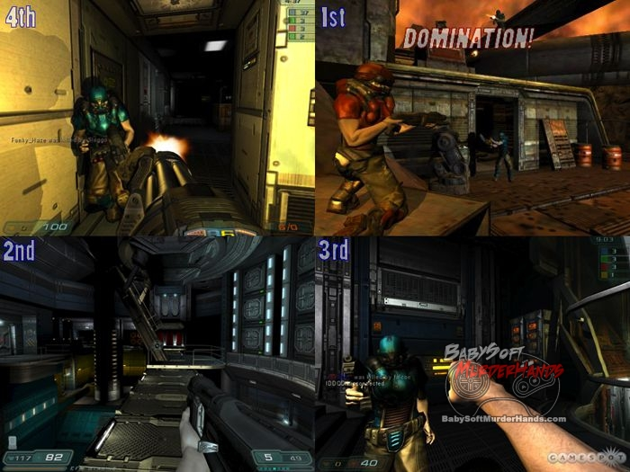 id software Doom 3 split screen console FPS