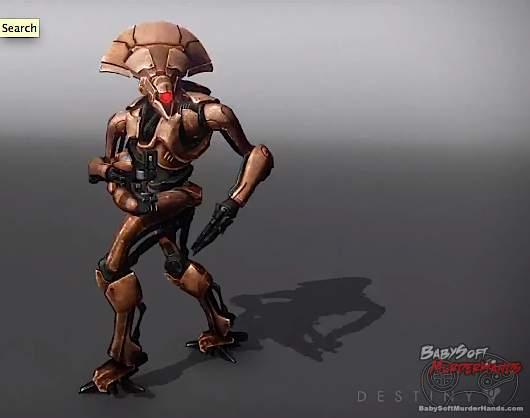 Bungie Destiny character art models VEX