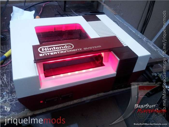 Really cool NES case mod looks like a Famicom but better