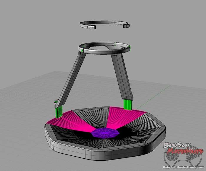 Virtuix Omni VR treadmill prototype cad