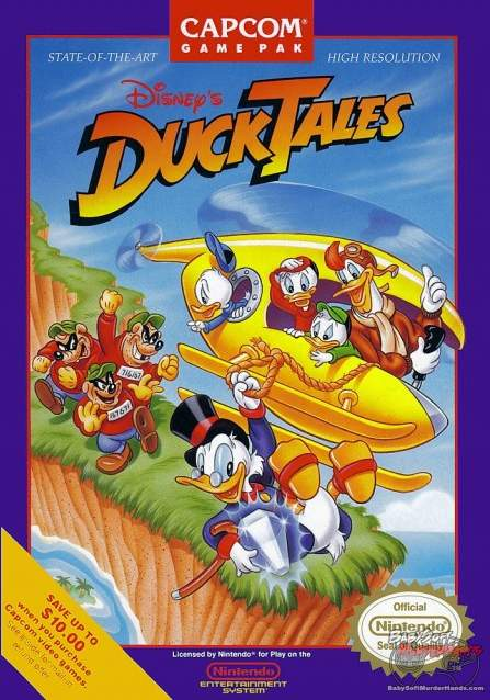 cover art ducktales nes