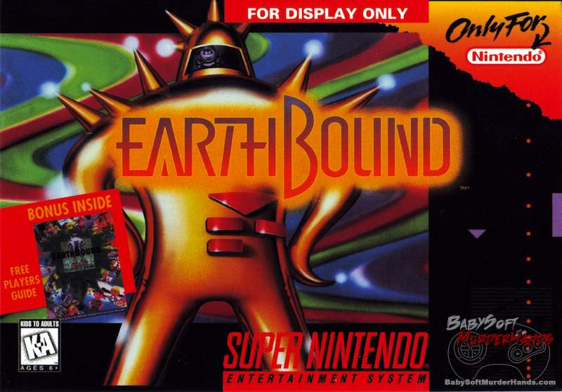 Earthbound cover art SNES