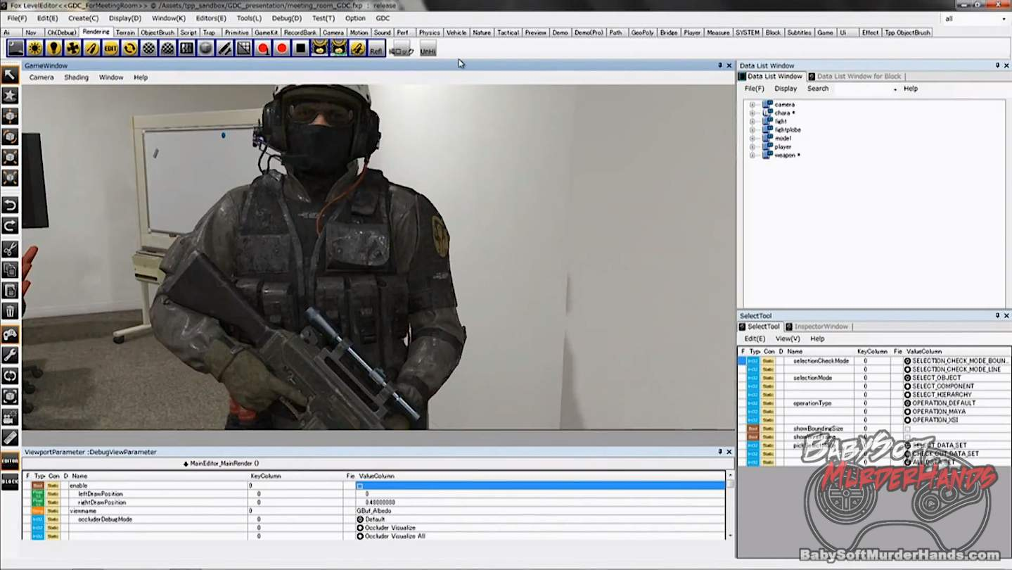 Fox Engine level editor sdk