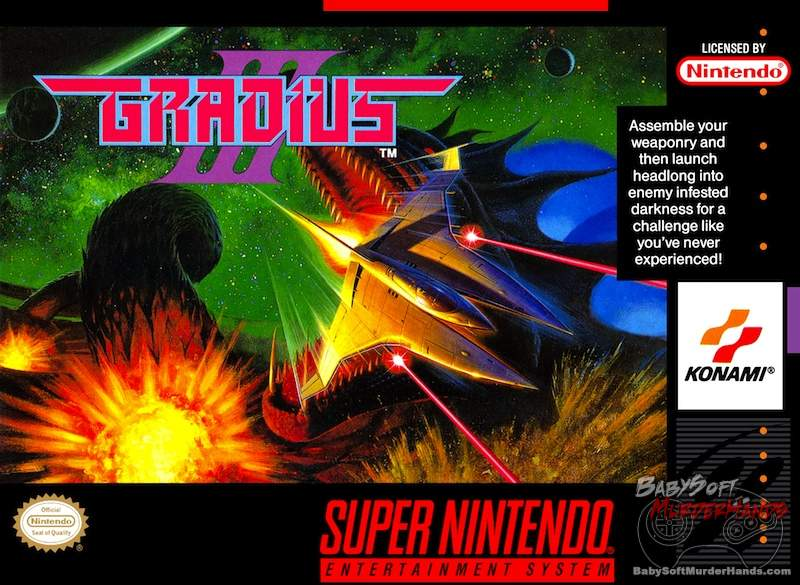 Gradius III cover art SNES