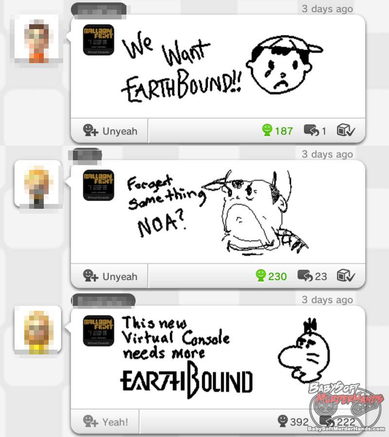 Nintendo annonces Earthbound Wii U