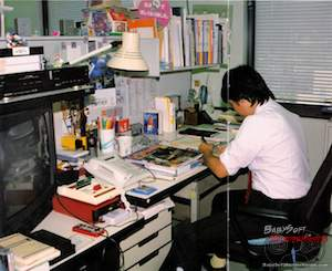 Shigeru Miyamoto during Super Mario Bros 3