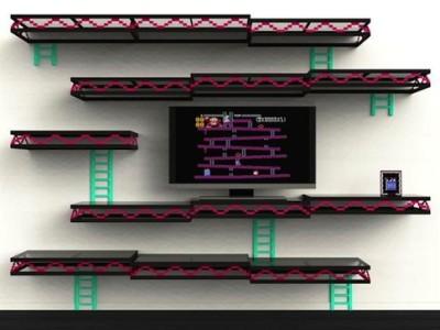 Donkey Kong inspired entertainment center