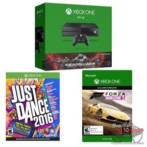 Xbox One 500GB Console - Gears of War: Ultimate Edition Bundle with Just Dance 2016 [Physical Disc] and Forza Horizon 2 [Digital Download Code]