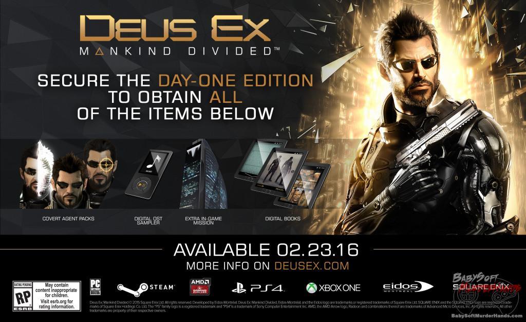 Deus Ex mankind Divided Pre-Order Bonus