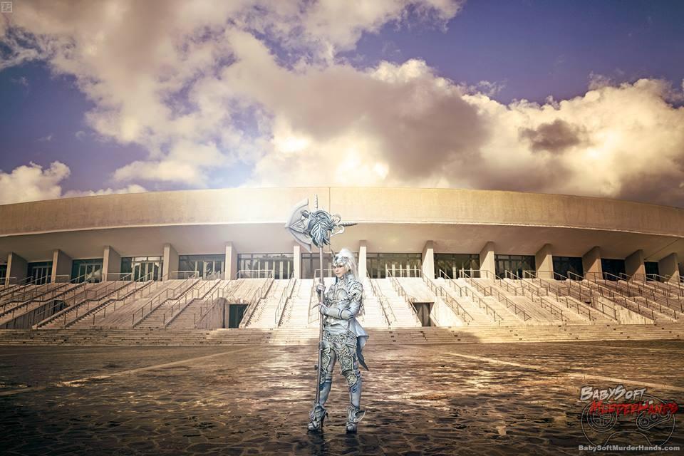 Cosplay Flavia Anemone (Haiku) Elyos Gladiator - Unicorn armor of The Tower of AION