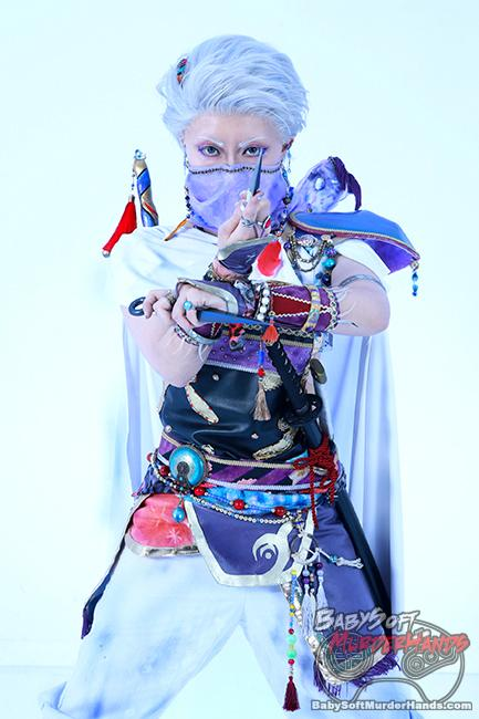 "paoton (ぱおとん) Edward Geraldine ""Edge"" of FINAL FANTASY IV cosplay"