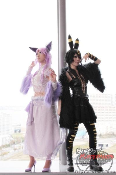 Espeon Umbreon of Pokemon gijinka cosplay