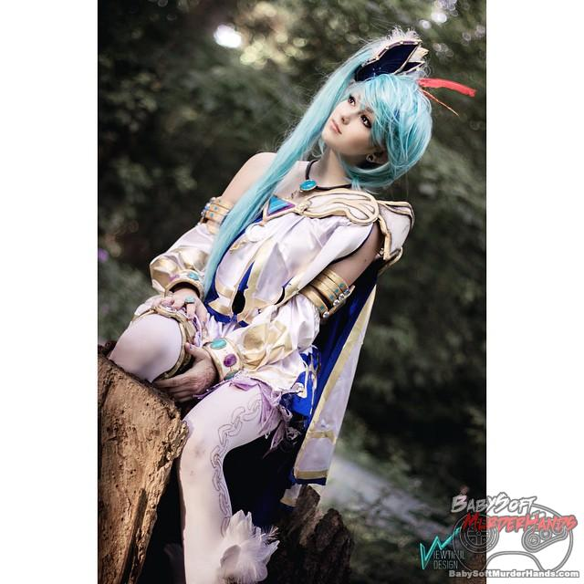 White Sorceress Lana Series Hyrule Warriors Zelda cosplay