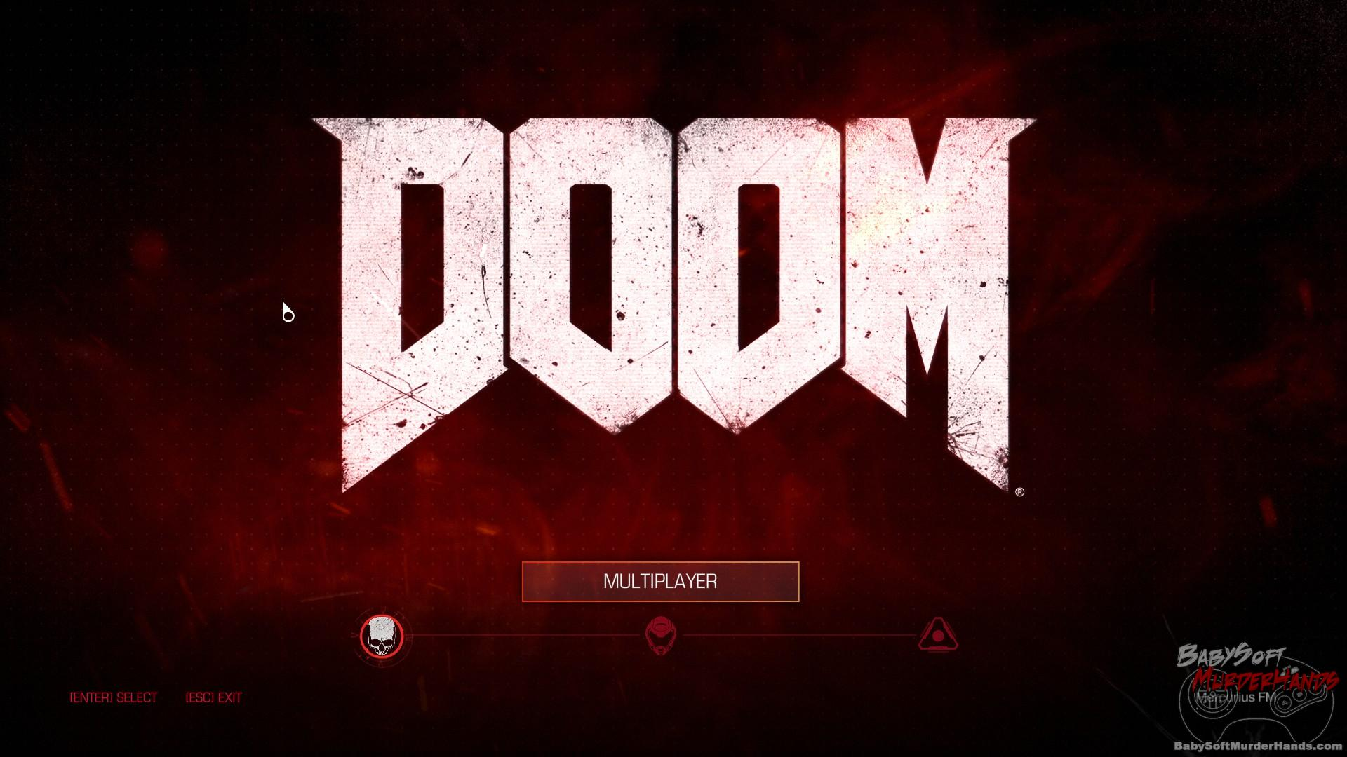 title screen Doom Beta Screenshot