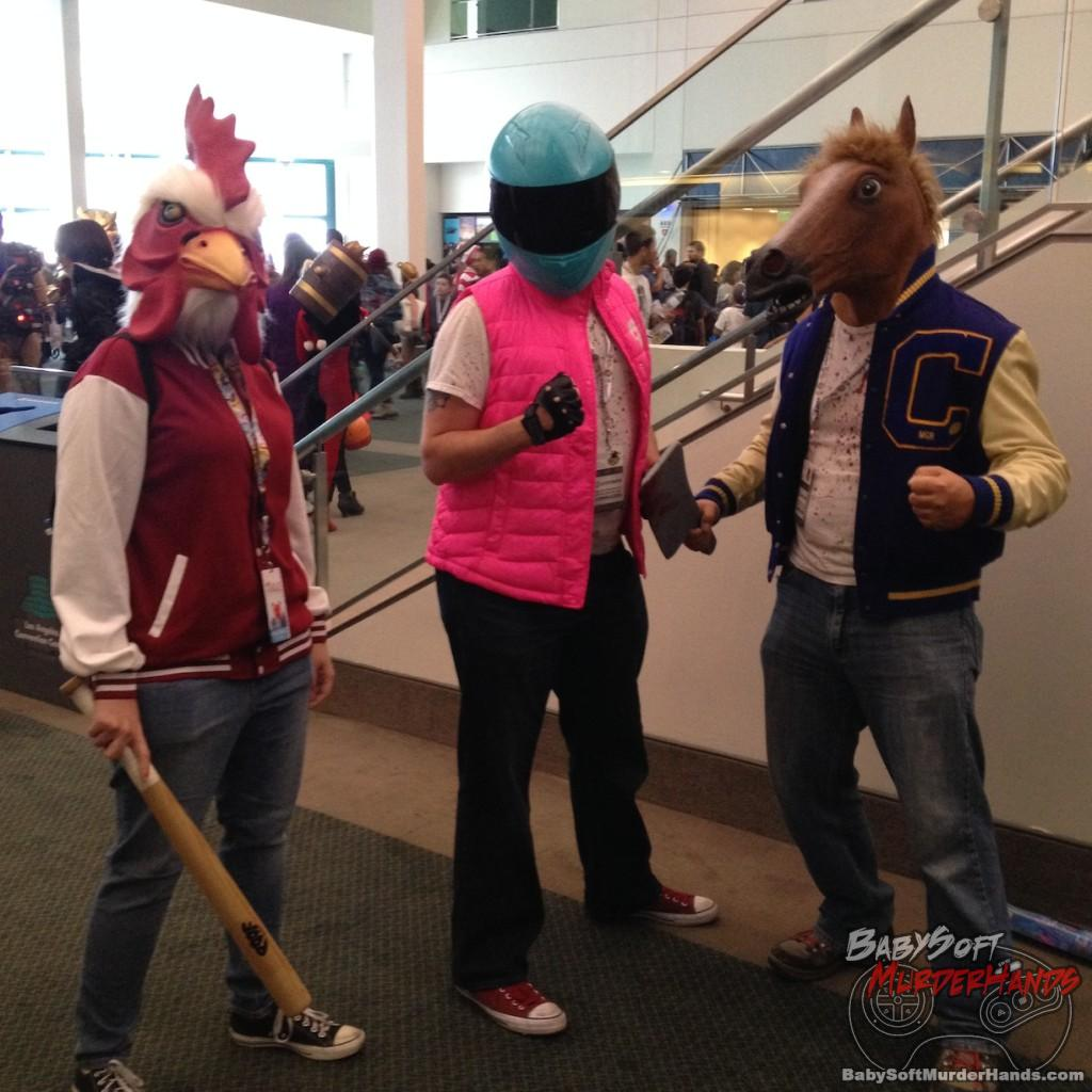 hotline miami comikaze 2015 cosplay