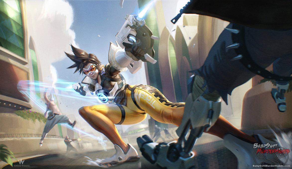 Overwatch: Tracer by Adrian-W Fan Art