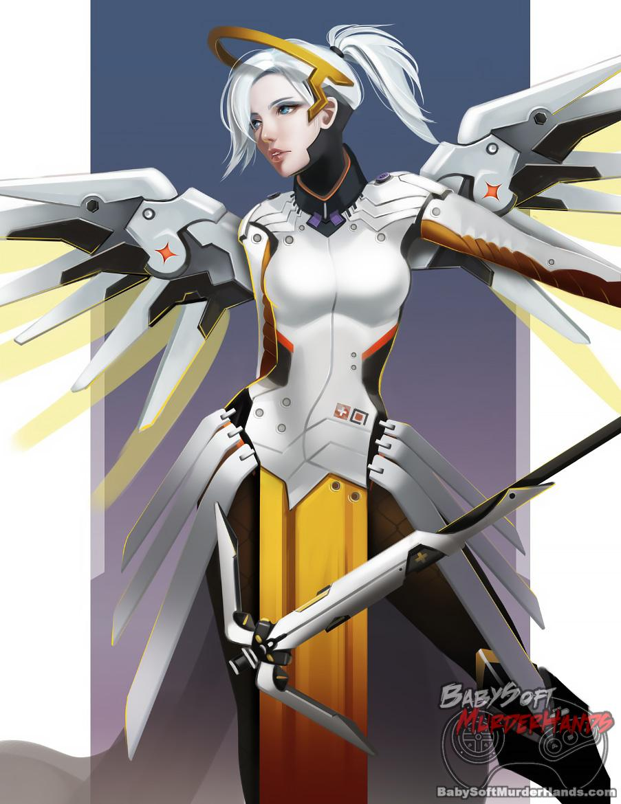 Overwatch mercy fanart