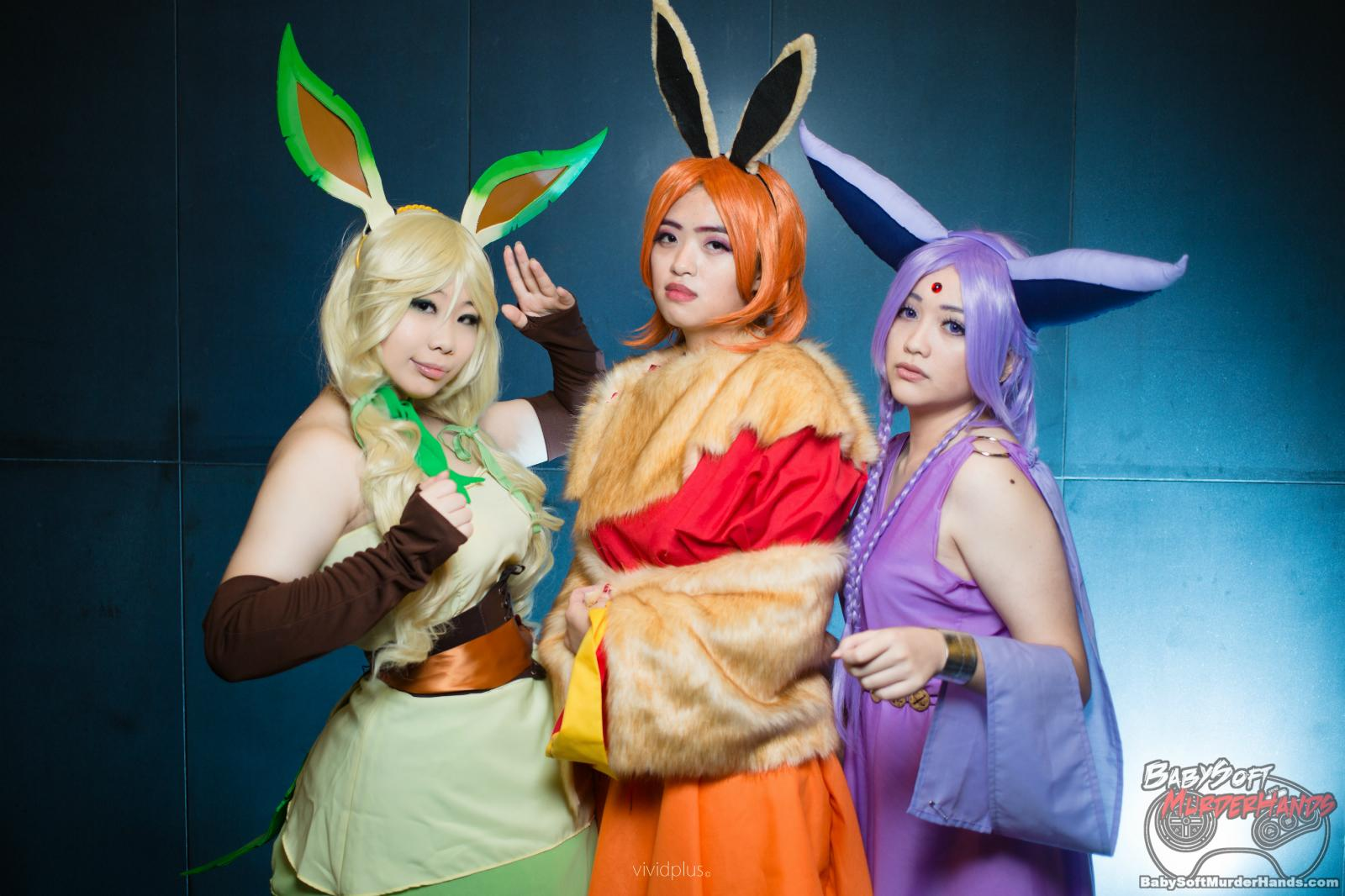 Flafeon: Cosmik General Espeon: Nana Kitsune Leafeon: Zakito Photo by: Vivid+ Photography (Alan Wong)-3000 cosplay gijinka pokemon