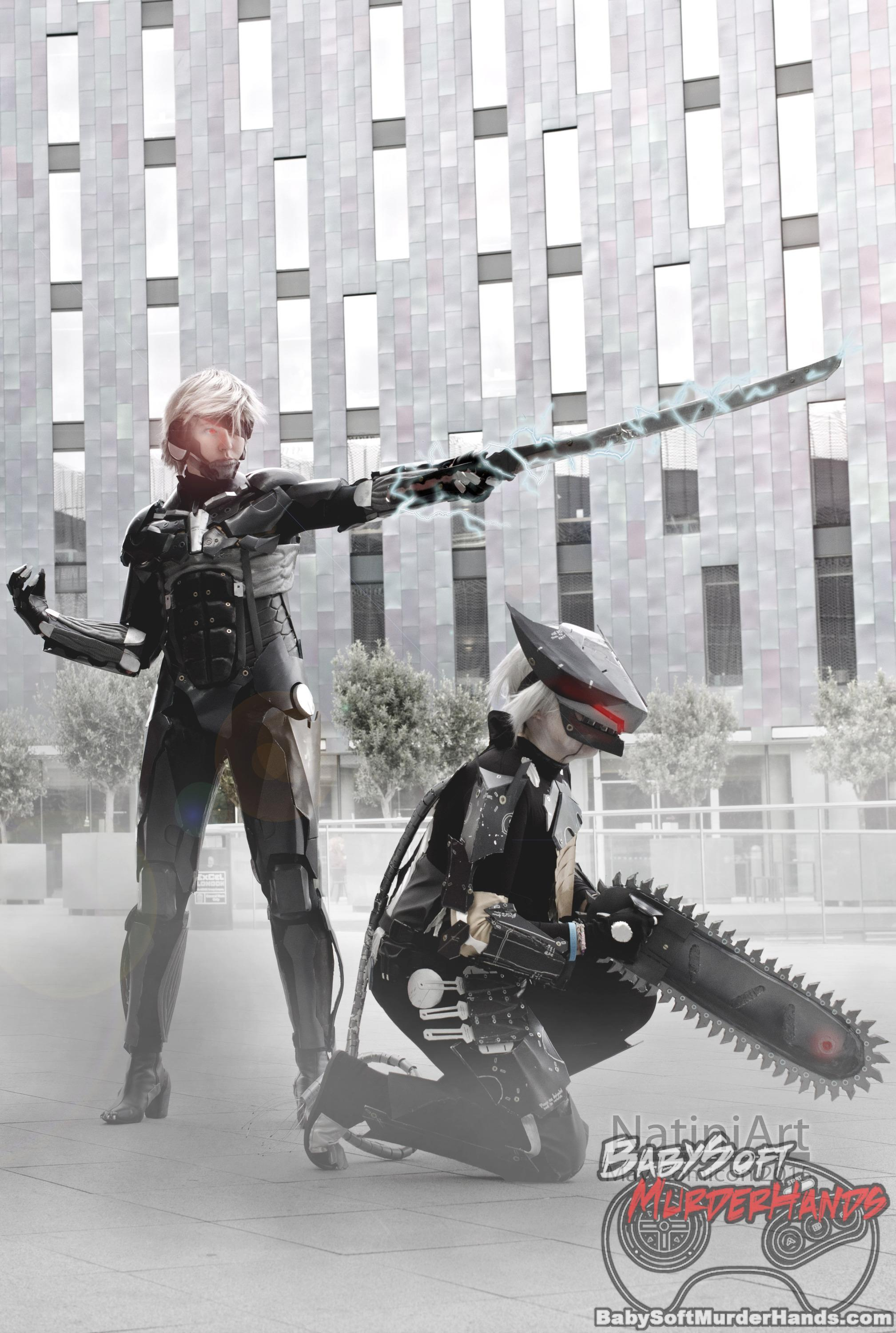 Raiden and Bladewolf from Metal Gear Rising: Revengeance Cosplay by Natalie Williams (Natini) and Sophie
