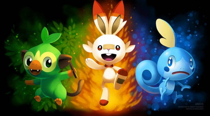 GAMING FAN ART: New Pokemon Starters!